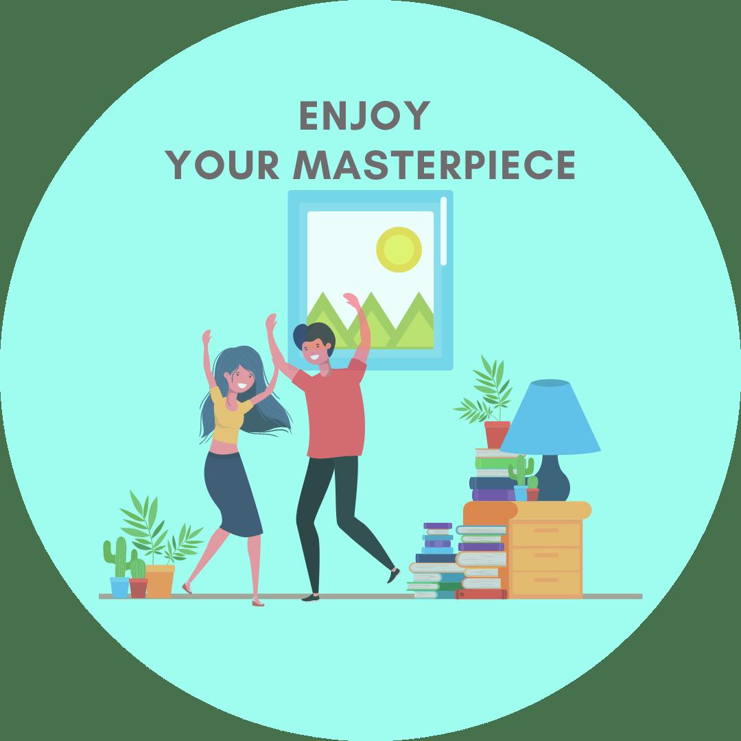 Enjoy your masterpiece icon