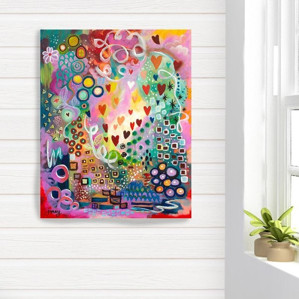 abstract canvas art