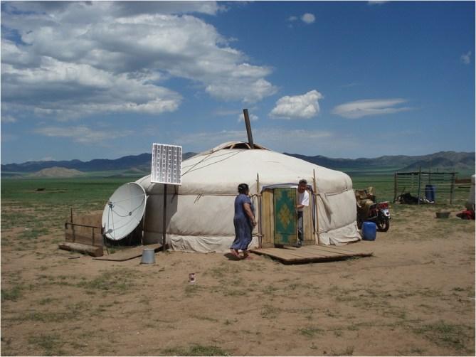 Nomaden Yurt met schotel en tv - Mevo