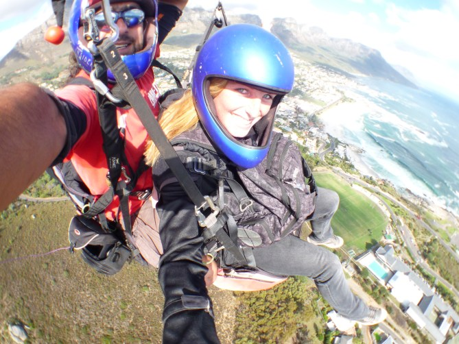Paragliden Kaapstad Zuid-Afrika