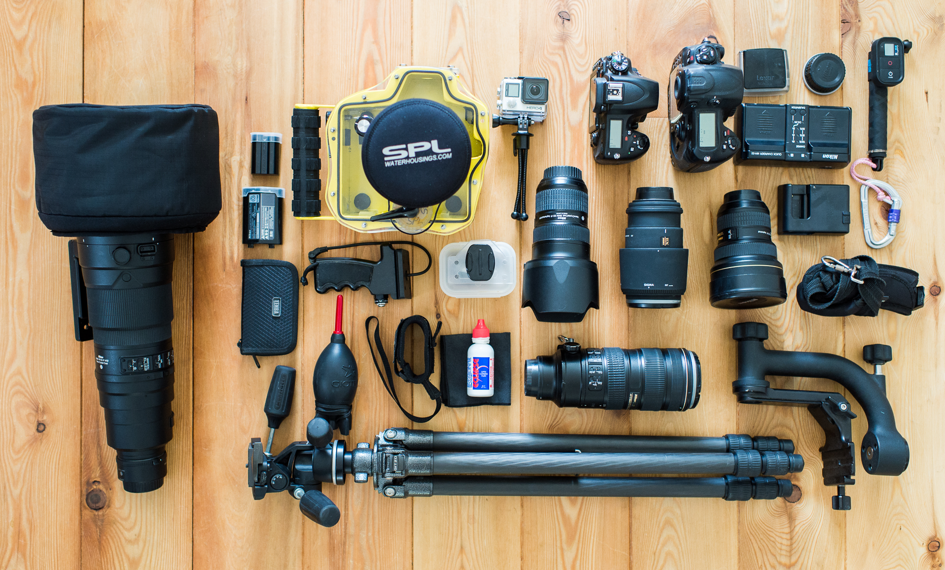 travelphotography equipment what's in the bag