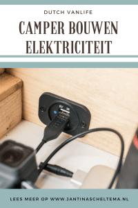Camper bouwen electriciteit