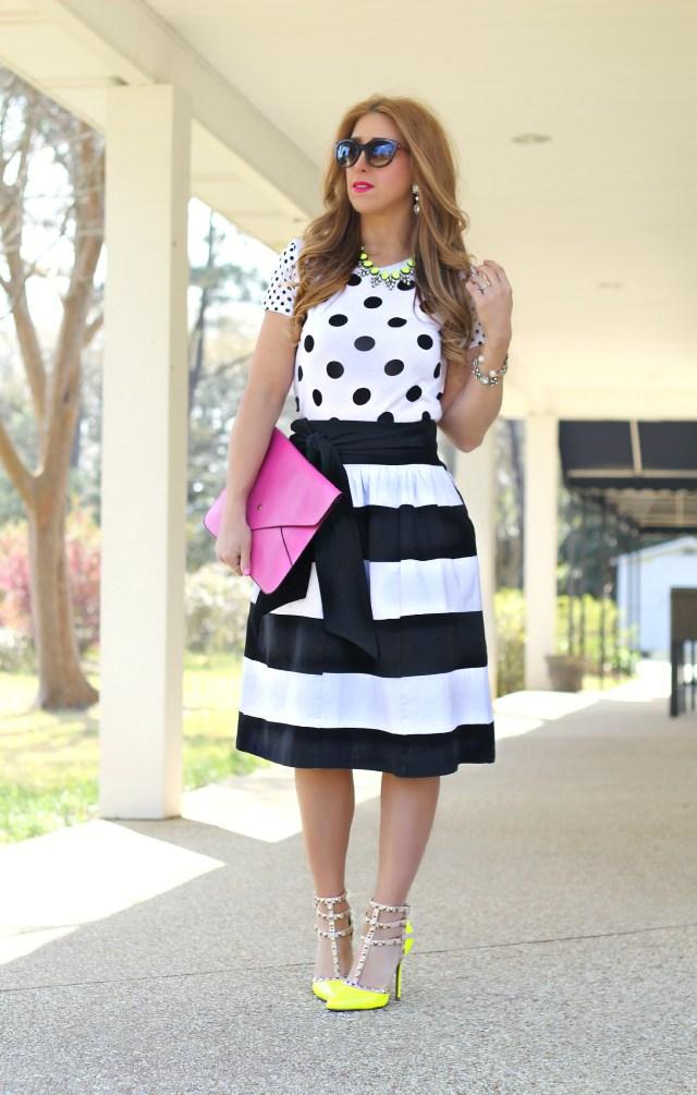 Bold Stripe skirt 1