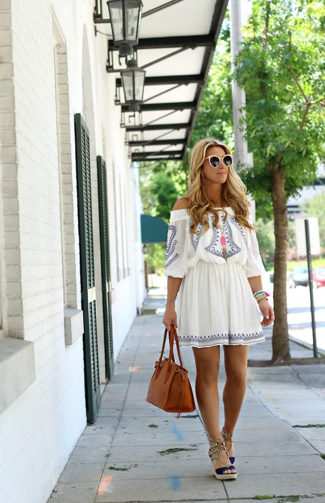 off the shoulder summer dress