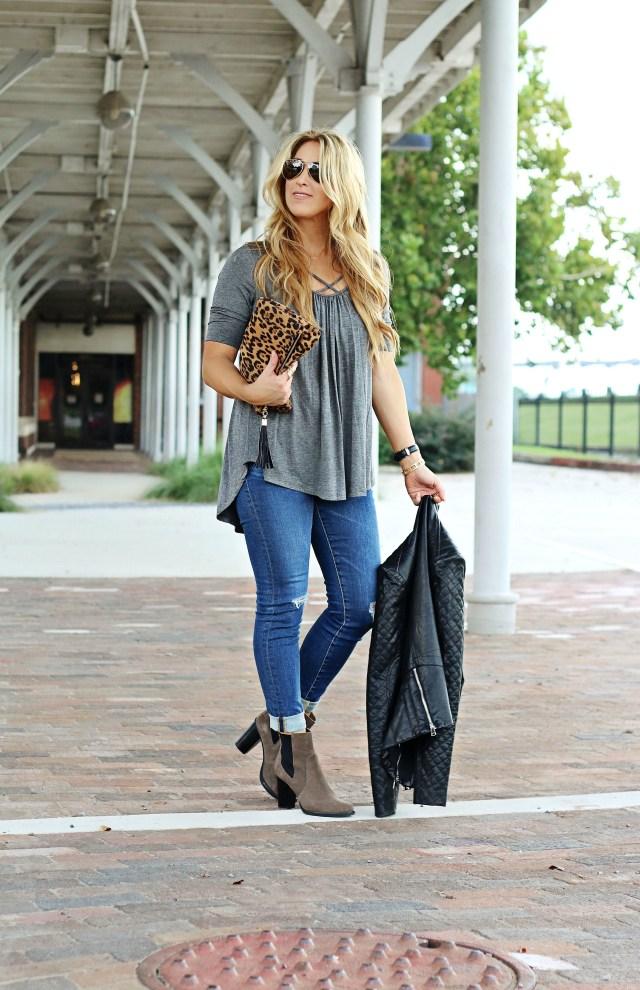grey fall tunic