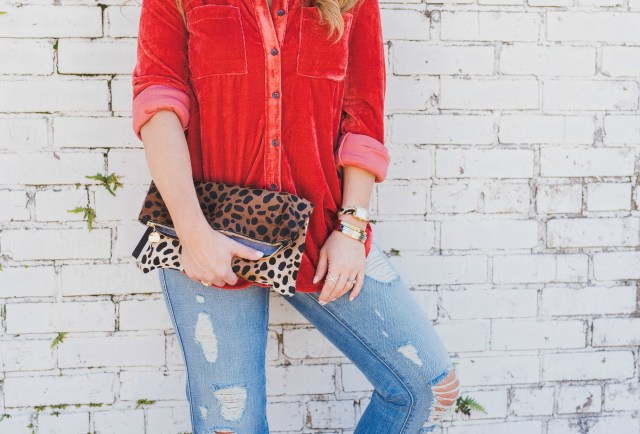 How to Style a Leopard Clutch