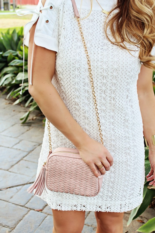 White spring lace dress