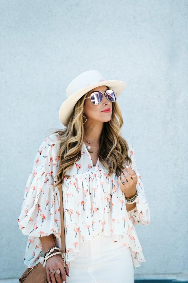 flamingo shirt womens
