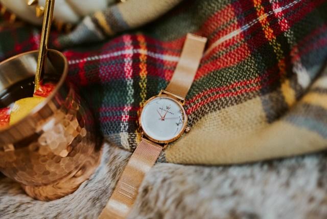 wristology rose gold watch