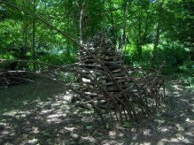 Shelter for animals sculpture, with students Schumacher College, UK, 2008