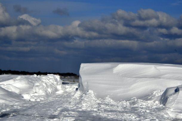 Wow! Heuse sneeuwduinen op Terschelling, woensdag 28 februari (bron: Sytse Schoustra).