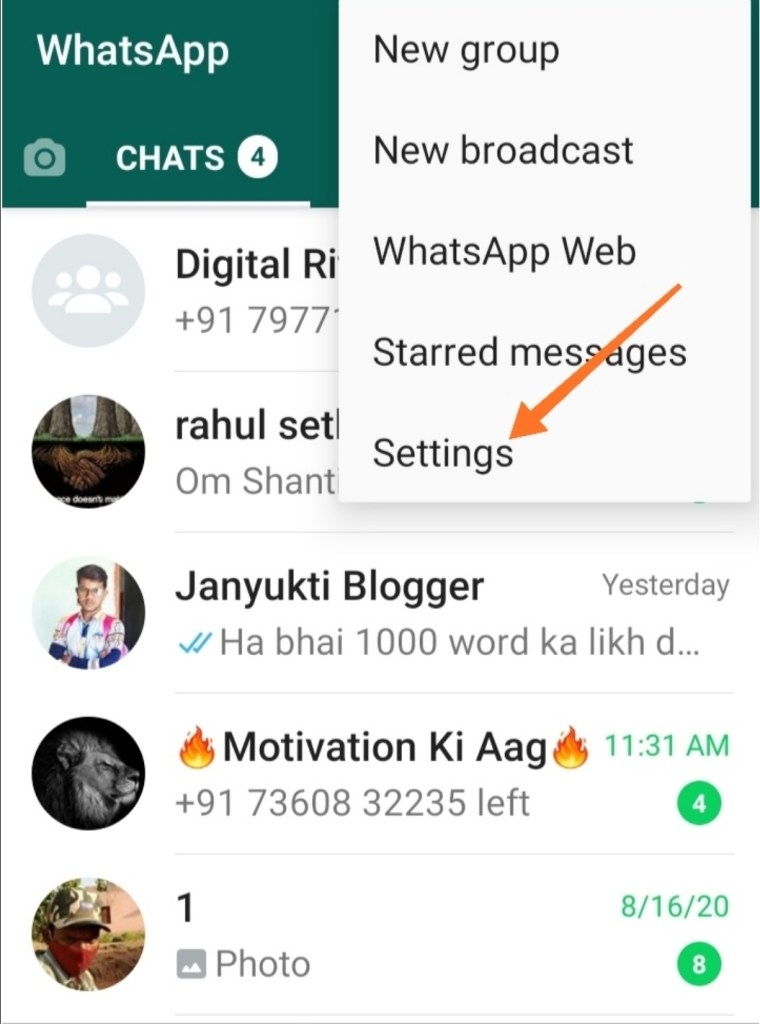 How to seen WhatsApp status after unseen in hindi3