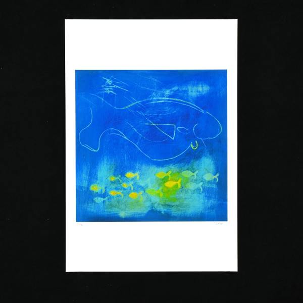 JAO Art print Fish with the Golden Fin