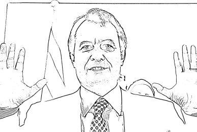 Dibujo de Artur Mas, presidente en funciones de la Generalitat de Cataluña