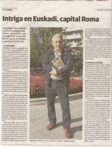 Recorte de prensa sobre entrevista con José Miguel Boal
