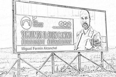 Cartel de Los Barrios 100x100