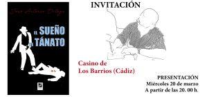Invitación para la presentación del libro El Sueño de Tánato