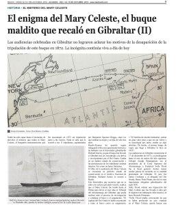 Página 11 del número 20 de la revista Reach Extra sobre el Mary Celeste
