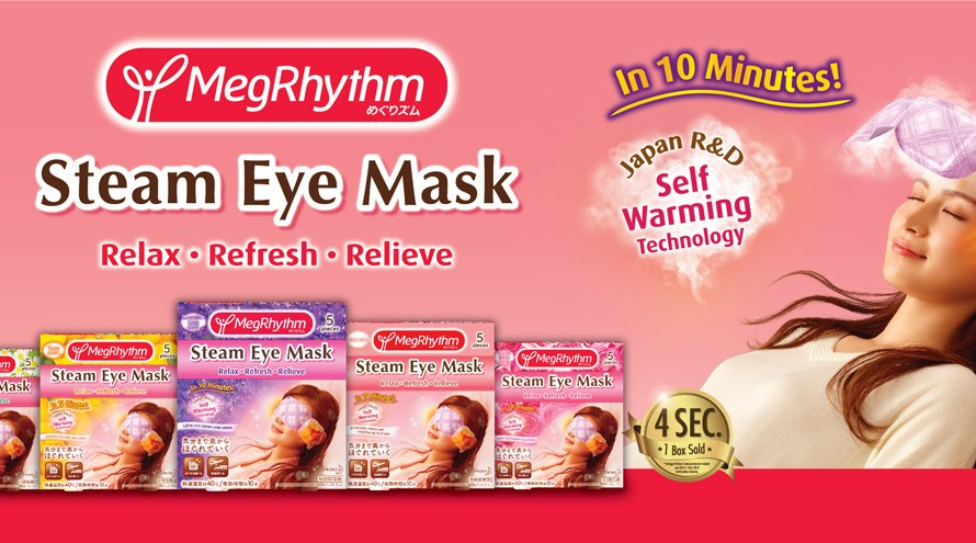 Review: Kao Megrhythm hot steam eye mask