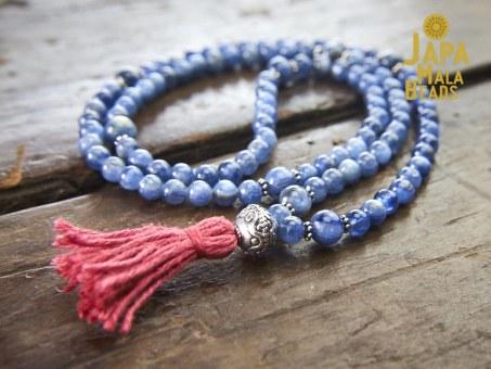 Kyanite necklace Mala prayer beads