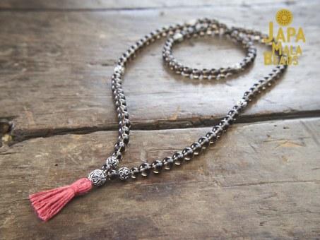 Smoky Quartz Necklace Mala Beads