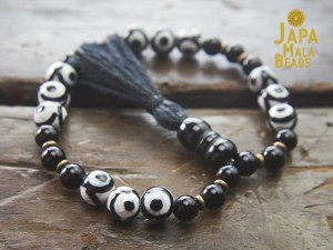 Black Agate Bracelet Mala