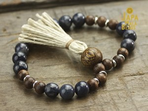 Dumortierite and Kakawate Mala