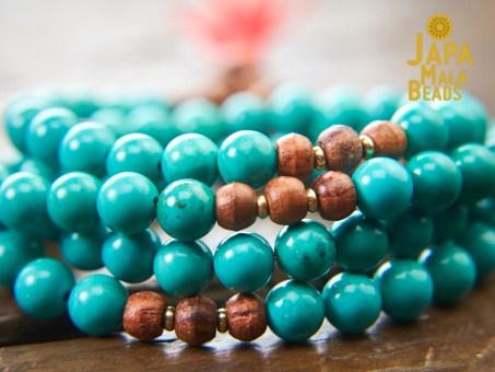 Turquoise mala beads
