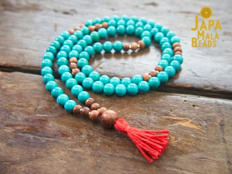 Turquoise Buddhist prayer beads
