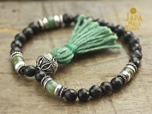 Black Serpentine and African Jade