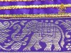 Elephant Zari Drawstring Bag