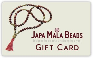 mala beads gift card
