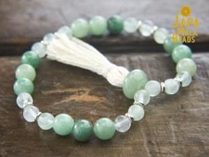 Green Aventurine Fluorite bracelet mala