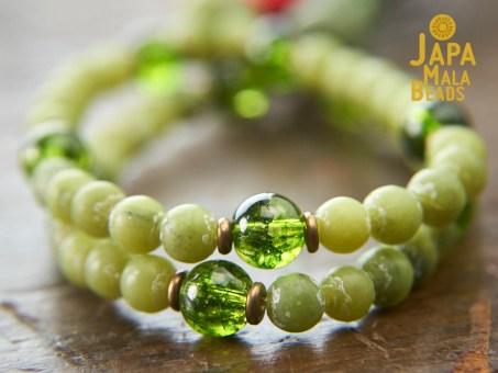 Jade and Peridot mala beads