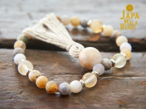 Rutilated Quartz and Citrine Bracelet Mala