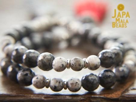 Sesame Jasper and Blue Labradorite Mala Beads