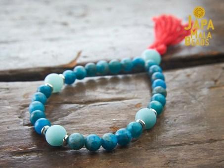 Apatite and Amazonite Bracelet Mala