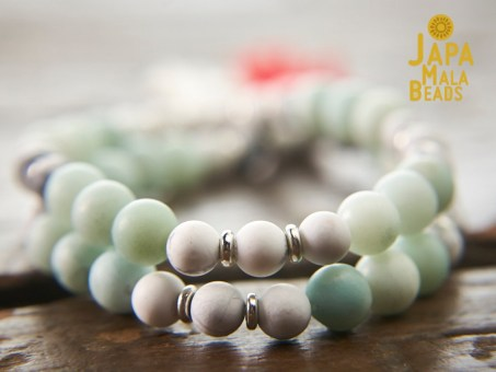 Howlite and Amazonite Mala Beads