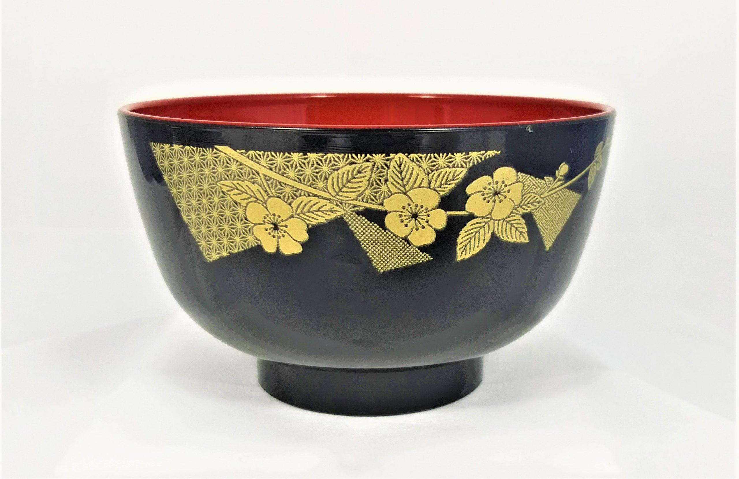 1 Schale mit gold Ornament