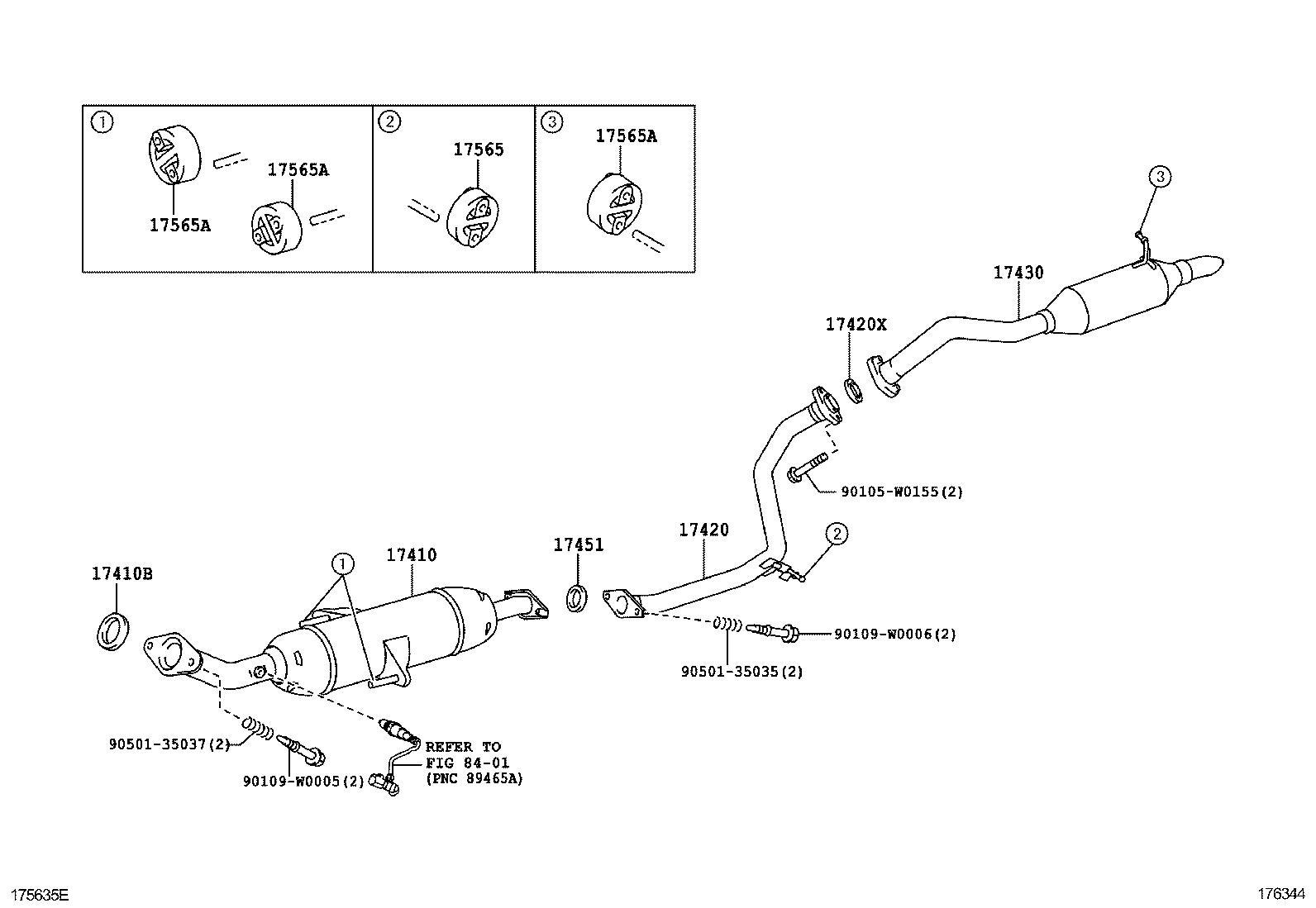 1992 Toyota corolla exhaust system