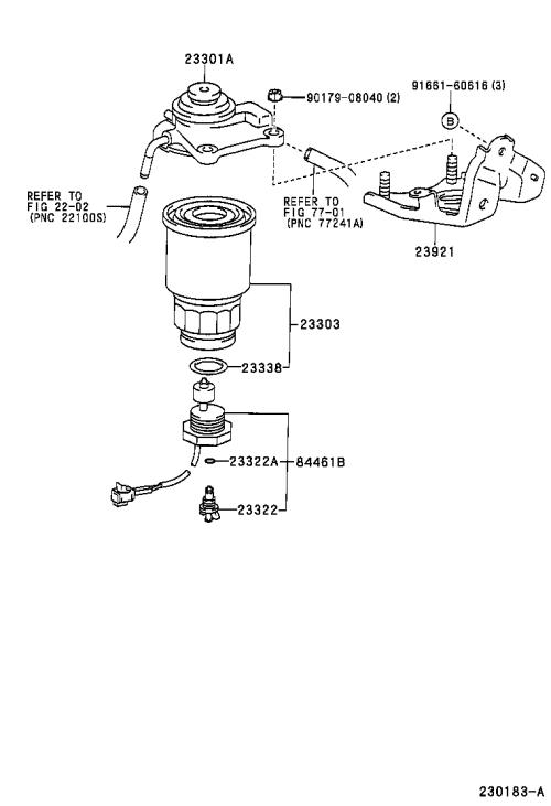 small resolution of picnic avensis verso fuel filter
