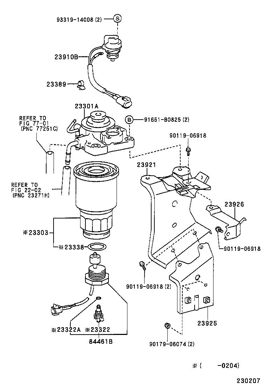 medium resolution of corolla verso fuel filter