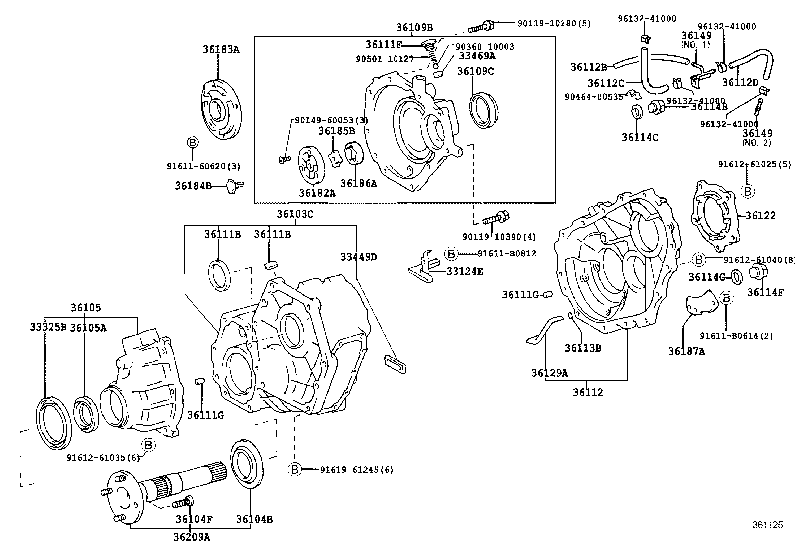 Service manual [Transfer Case Extension Housing For Toyota