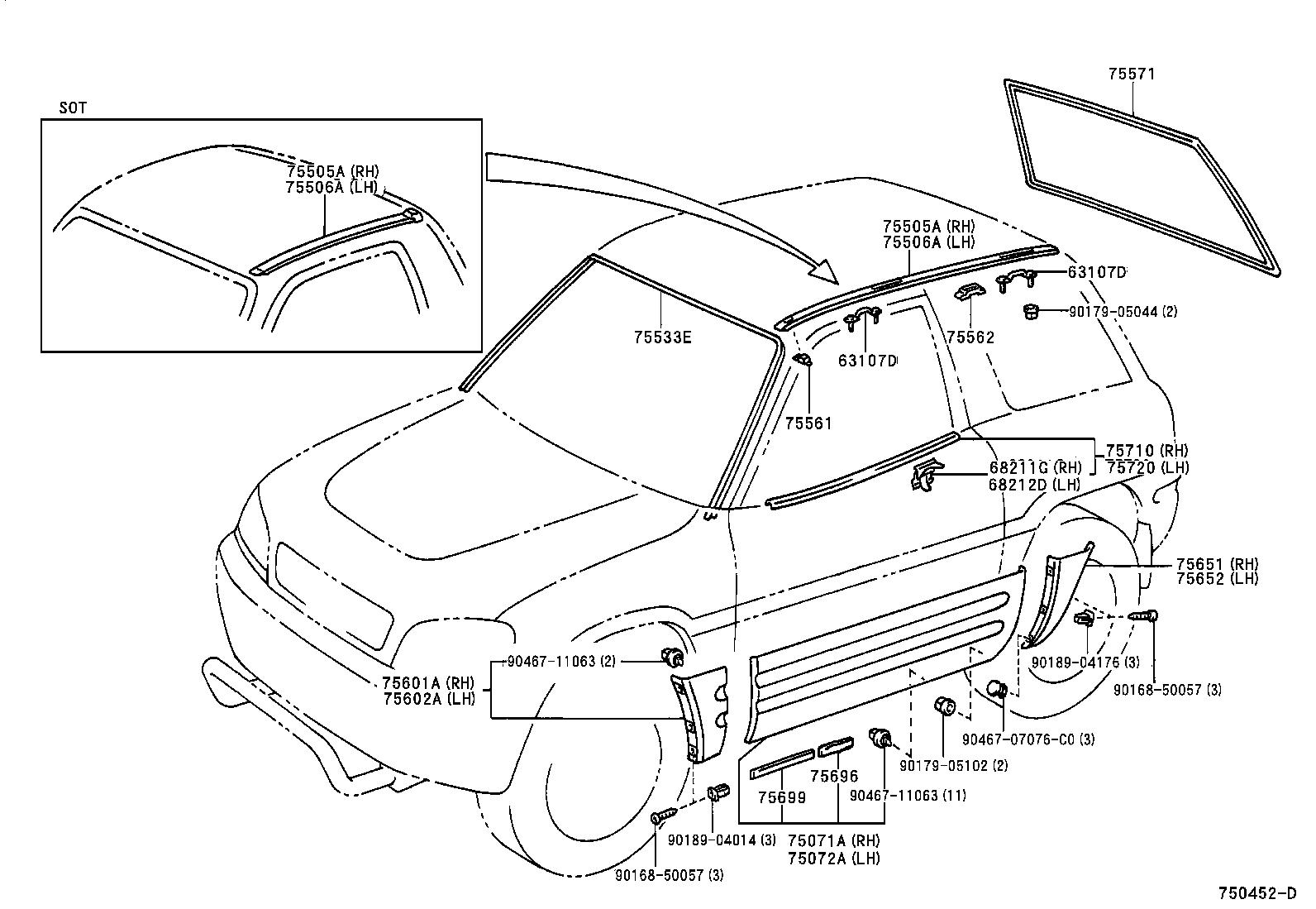 30 Toyota Rav4 Body Parts Diagram