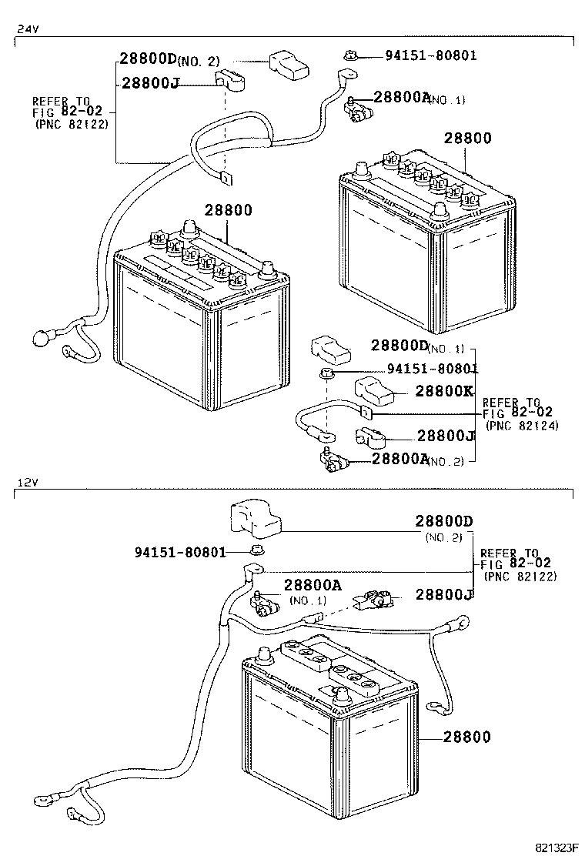 Toyota Dyna Battery Diagram. Toyota. Auto Parts Catalog