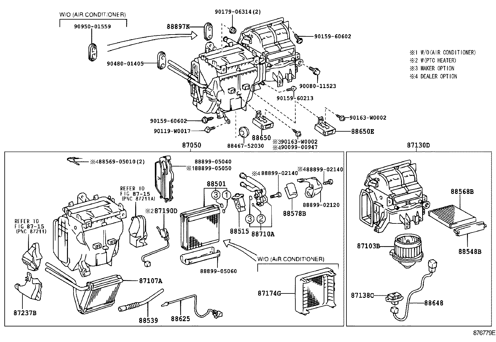 [WRG-9424] Toyota Corolla 2003 Air Conditioner Wiring Diagram
