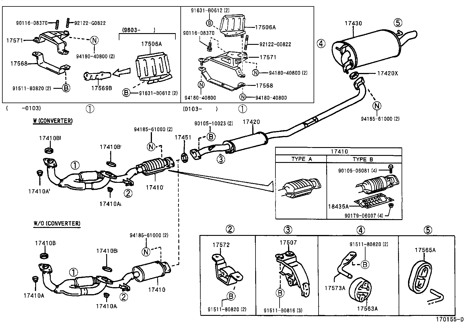 toyota tacoma exhaust system diagram