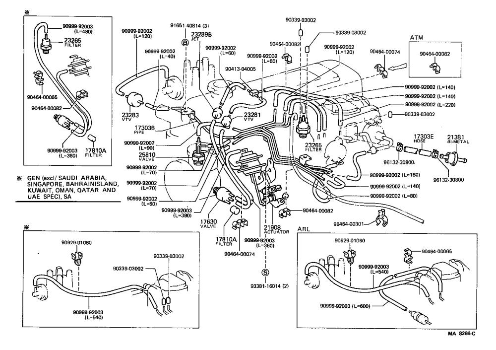 medium resolution of hiace van comuter vacuum piping