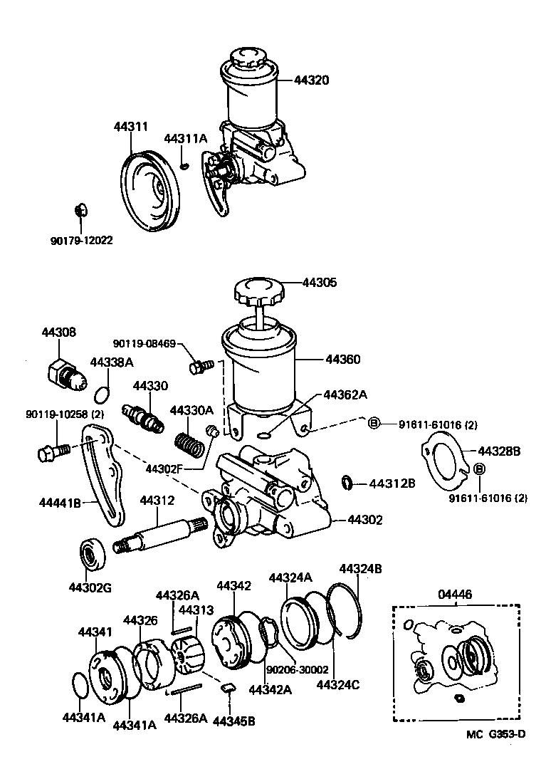 hight resolution of 4runner power steering pump diagram
