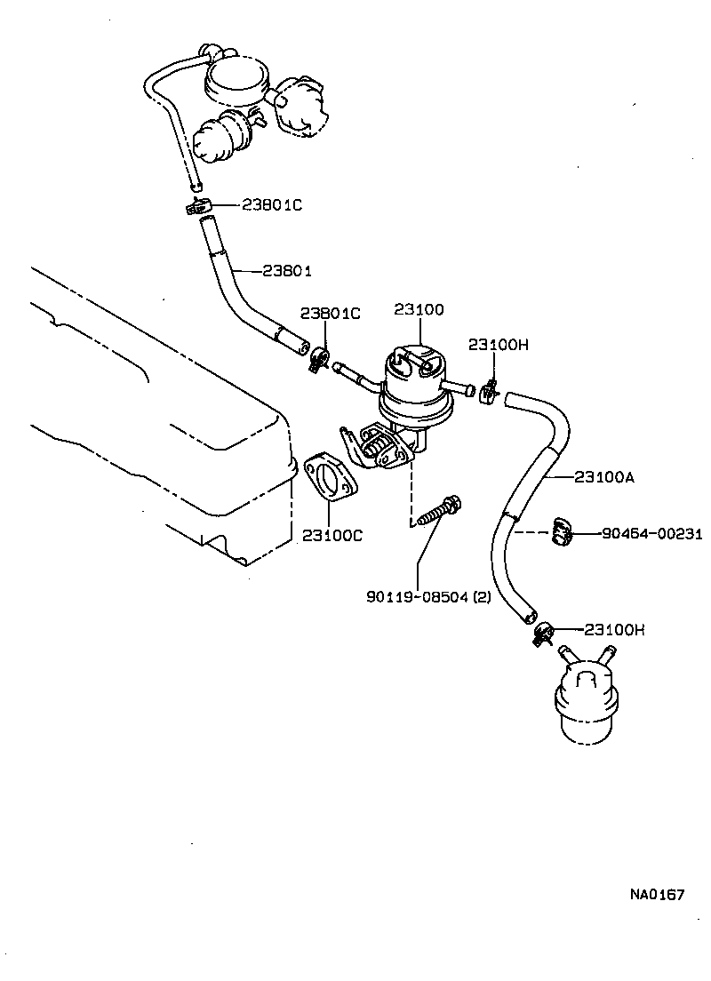 hight resolution of corolla fuel pump pipe